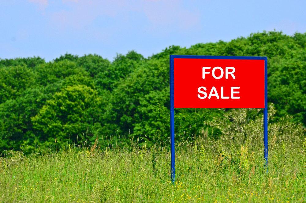 Land for sale concept