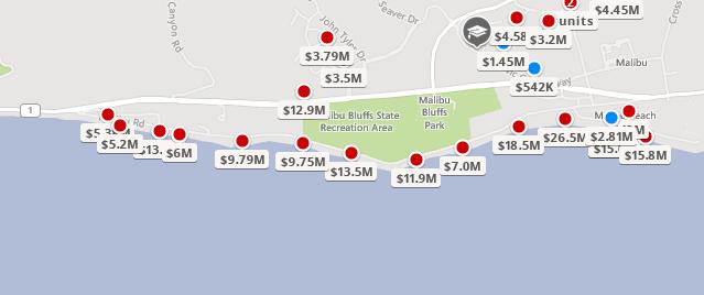 Malibu Road Home Prices