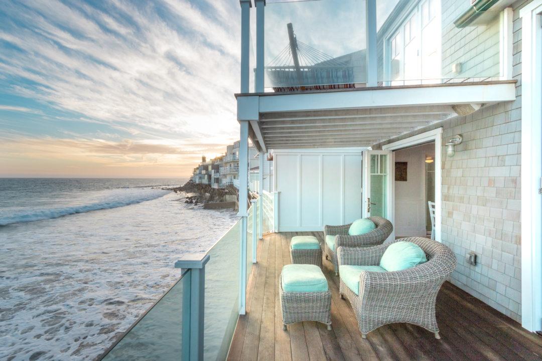 Ocean View Malibu Beach House Patio