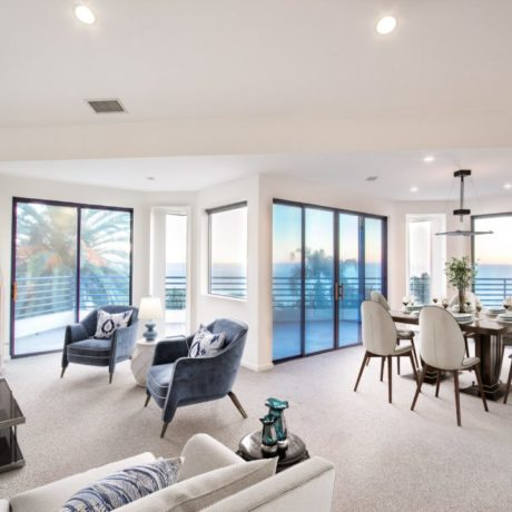 malibu, living room, ocean views, the mark and grether group, compass